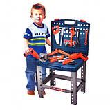 Игрушечный набор инструментов в чемодане 008-21, верстак, дрель на батарейках, ключи и др, детские мастерские, фото 2