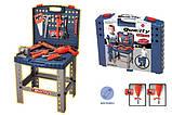 Игрушечный набор инструментов в чемодане 008-21, верстак, дрель на батарейках, ключи и др, детские мастерские, фото 3