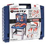 Игрушечный набор инструментов в чемодане 008-21, верстак, дрель на батарейках, ключи и др, детские мастерские, фото 4