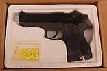 Детский пневматический пистолет на пульках ZM21, металлический корпус, игрушечное оружие, фото 3