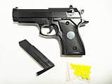 Детский пневматический пистолет zm21, железный на пульках, детское оружие, фото 4