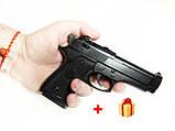 Детский пневматический пистолет zm21, железный на пульках, детское оружие, фото 6
