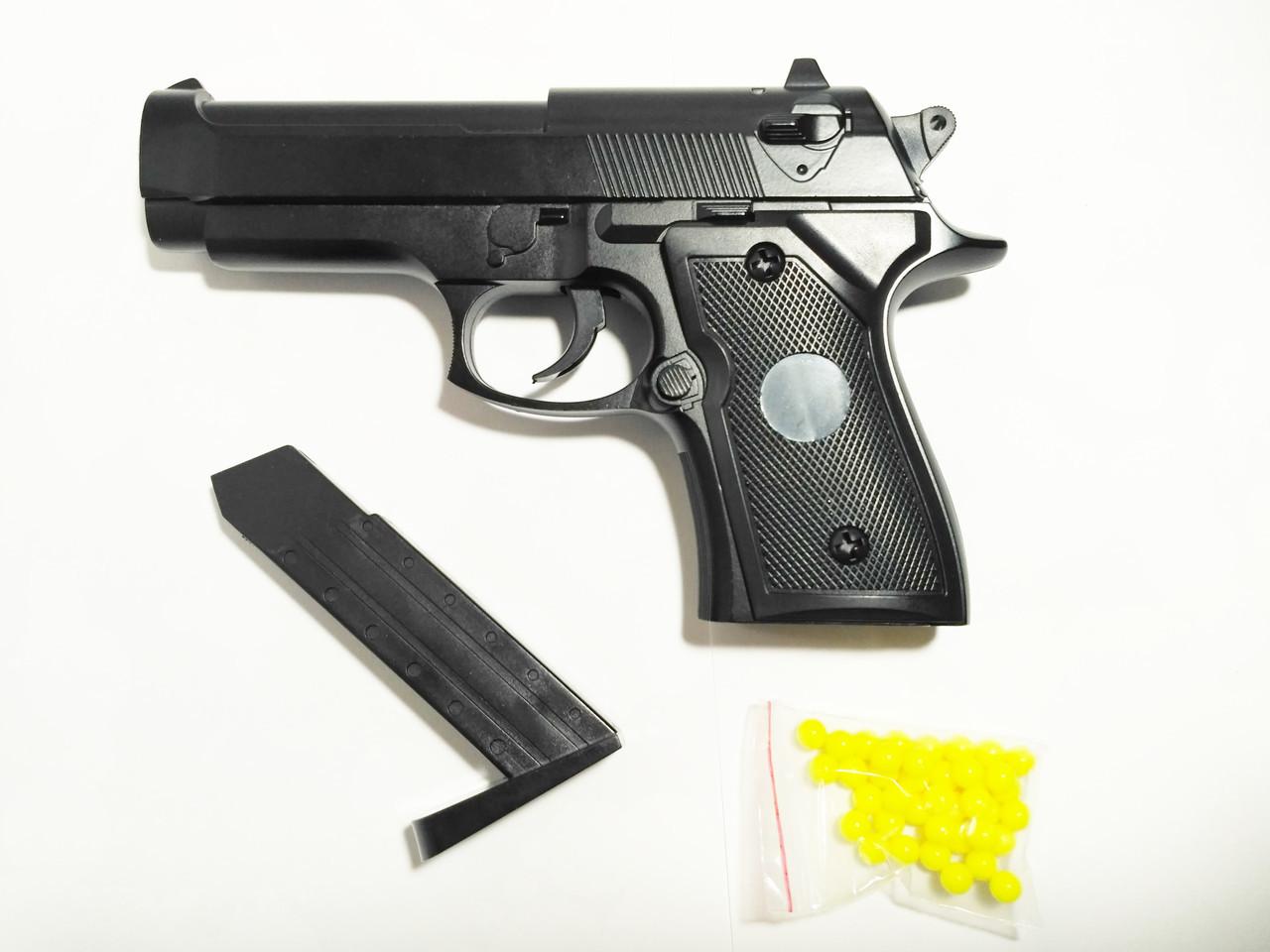 Іграшковий залізний пістолет, zm21 на пульках, дитяча пневматика