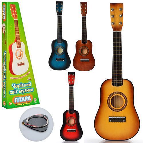 Дитяча дерев'яна гітара, аналог дорослого музичного інструменту, що настроюються струни