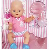 Пупс Warm Baby 8009-435, їсть, ходить на горщик, плаче справжніми слізками, при натисканні на ручку пищить, фото 2