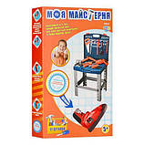 Детский набор инструментов Моя мастерская 008-22, чемодан на ножках, 57 деталей, игрушечные инструменты, фото 2