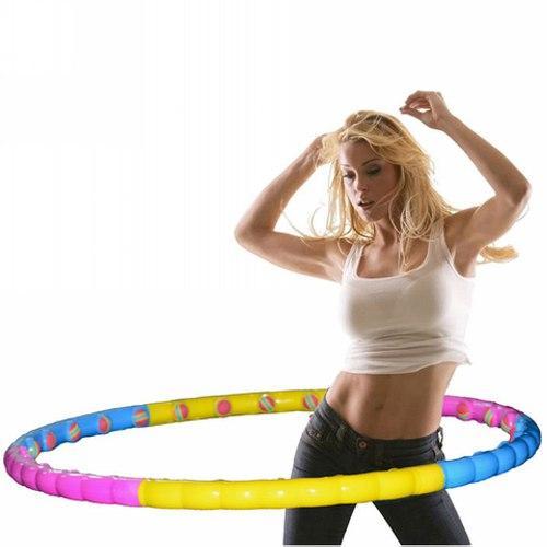 Гимнастический массажный обруч МS 0088, диаметр 99 см, 30 массажных шариков, разбирается на 6 частей