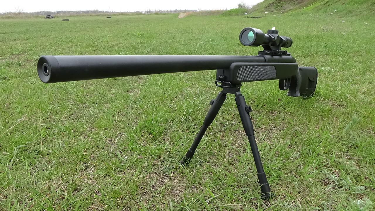 Іграшкова снайперська гвинтівка ZM51 на пульках, сошки, оптичний приціл, поворотний затвор, дитяче зброю