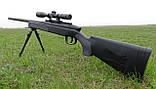 Іграшкова снайперська гвинтівка ZM51 на пульках, сошки, оптичний приціл, поворотний затвор, дитяче зброю, фото 4