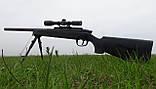 Детская винтовка приближенная к настоящей, ZM51 на пульках, с прицелом и сошками, игрушечная снайперка, фото 4