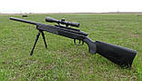 Снайперская винтовка ZM51 на пульках с сошками и прицелом, детское игрушечное оружие, фото 3