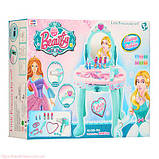 Дитяче трюмо Frozen, дзеркало, звукові ефекти, фен працює, подарунки для дівчаток, фото 3