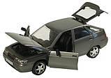 Металева модель машини Жигулі 2112, відкриваються двері, капот, багажник, 1:22, звук, світло, автопром, фото 2