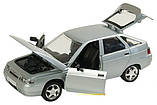 Металева модель машини Жигулі 2112, відкриваються двері, капот, багажник, 1:22, звук, світло, автопром, фото 3