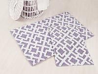 Набор ковриков для ванной хлопок 60х100+45х60 FINLEY лиловый