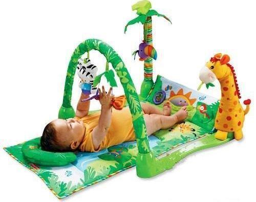 """Розвиваючий ігровий килимок для немовлят """"Тропічний ліс"""", дитячі килимки"""