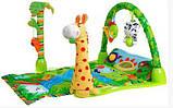 """Розвиваючий ігровий килимок для немовлят """"Тропічний ліс"""", дитячі килимки, фото 2"""