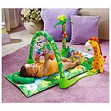 """Розвиваючий ігровий килимок для немовлят """"Тропічний ліс"""", дитячі килимки, фото 4"""