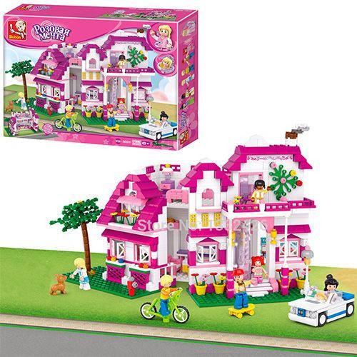 Конструктор Sluban M38-B0536 Рожева мрія Заміський будиночок , 726 деталей