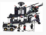 """Дитячий конструктор SLUBAN """"Військова поліція"""" 385 дет, M38-B1500, транспорт, фігурки, 385 деталей, фото 2"""