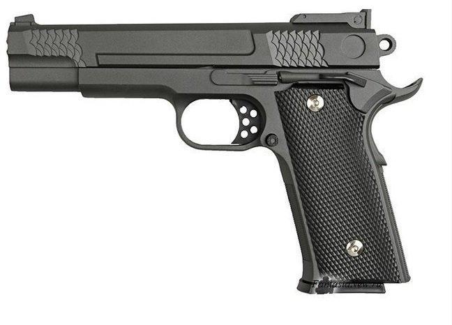 Детский металлический пистолет G20 (Smith & Wesson M945), спринговый, страйкбол, пистолеты на пульках