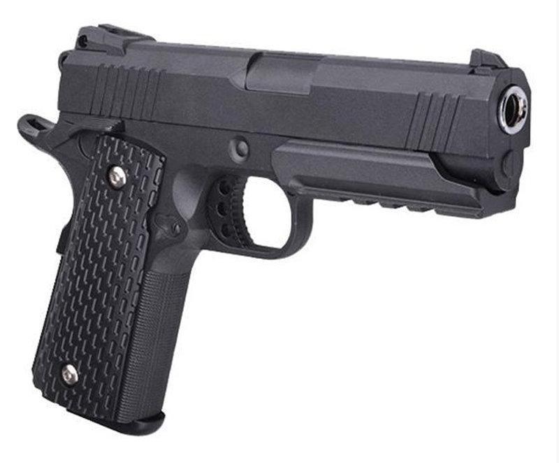 Спринговый металлический пистолет G25 (Colt 1911 rail), rjkmn 1911 страйкбол, пистолеты на пульках