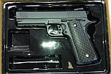 Спринговый металлический пистолет G25 (Colt 1911 rail), rjkmn 1911 страйкбол, пистолеты на пульках, фото 4