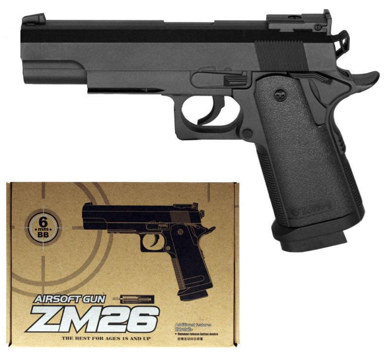 Детский пневматический пистолет ZM26 (Кольт 1911), металлический