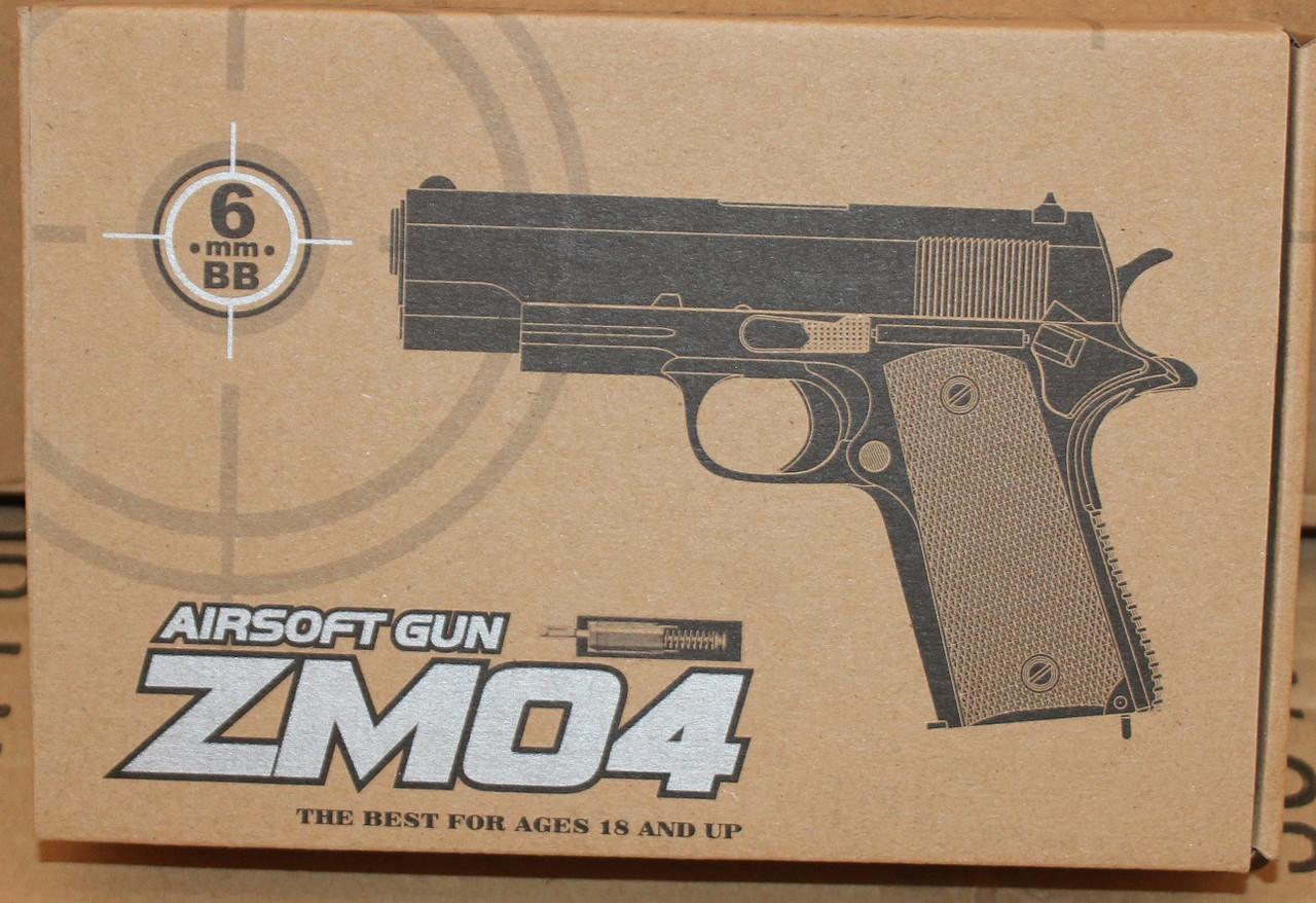 Іграшковий пістолет на пульках ZM04, метал і пластик