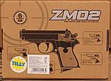 Детский пистолет с пульками ZM02, пневматический, копия Вальтера, метал, фото 6