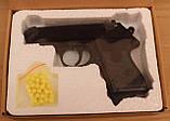 Детский пистолет с пульками ZM02, пневматический, копия Вальтера, метал, фото 7