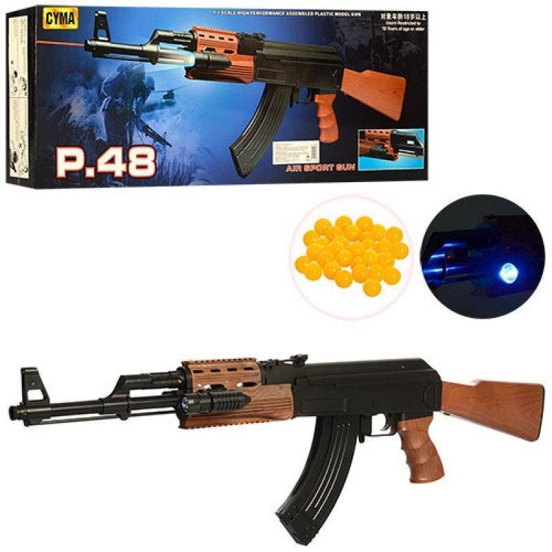 Іграшковий автомат Калашникова АК на пульках з лазером