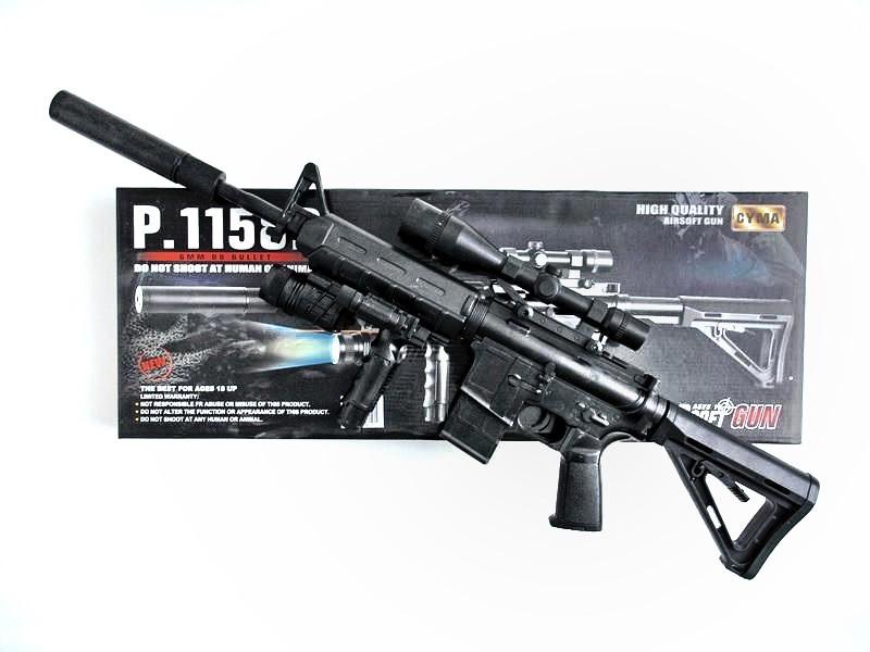 Автомат детский 1158D, копия винтовки М16, на пульках, лазер, фонарик, игрушечное оружие, автомат игрушечный