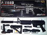 Автомат детский 1158D, копия винтовки М16, на пульках, лазер, фонарик, игрушечное оружие, автомат игрушечный, фото 3