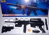 Автомат детский 1158B, винтовка М16 c пульками, лазер, фонарик, игрушечное оружие, автомат игрушечный, фото 3