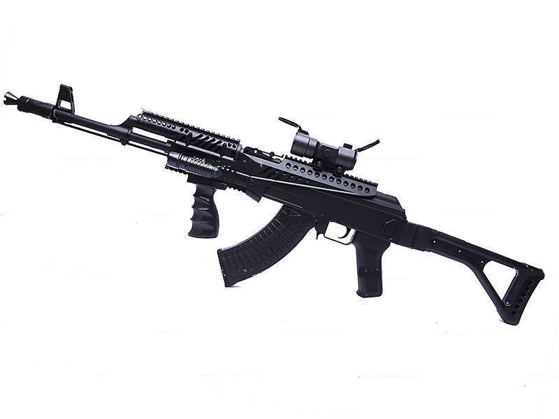 Игрушечный автомат Калашникова АК47, лазер, фонарик, реалестичный, детское оружие, для мальчиков