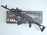 Игрушечный автомат Калашникова АК47, лазер, фонарик, реалестичный, детское оружие, для мальчиков, фото 2
