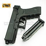 Игрушечный пистолет ZM17, копия Glok 17, на пульках, с предохранителем, затворная задержка, игрушечное оружие, фото 3