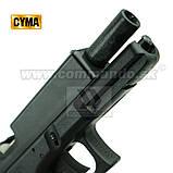 Игрушечный пистолет ZM17, копия Glok 17, на пульках, с предохранителем, затворная задержка, игрушечное оружие, фото 4