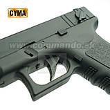 Игрушечный пистолет ZM17, копия Glok 17, на пульках, с предохранителем, затворная задержка, игрушечное оружие, фото 5