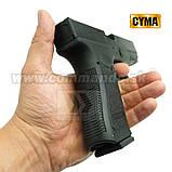 Игрушечный пистолет ZM17, копия Glok 17, на пульках, с предохранителем, затворная задержка, игрушечное оружие, фото 7