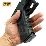 Игрушечный пистолет ZM17, копия Glok 17, на пульках, с предохранителем, затворная задержка, игрушечное оружие, фото 8