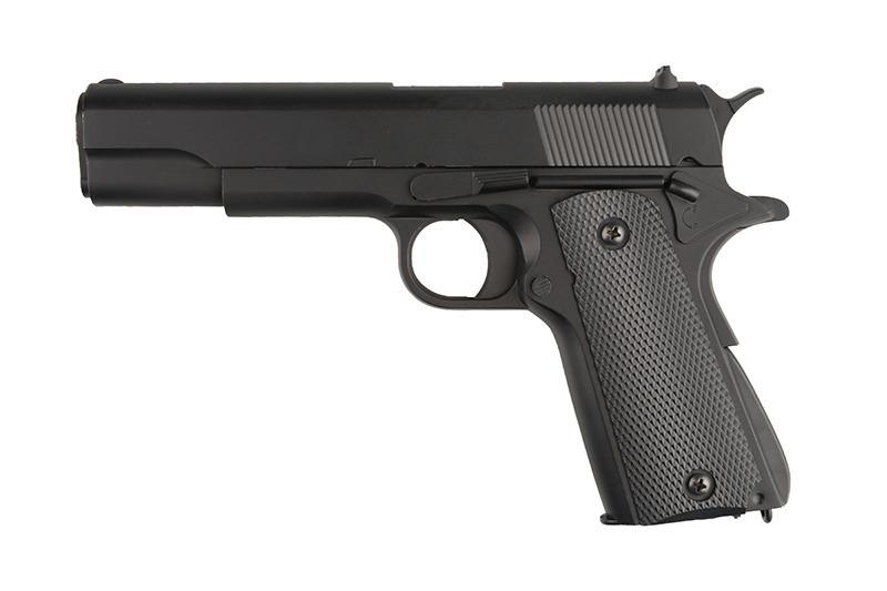 Детский спринговый пистолет (Colt 1911) ZM19, метал, точная копия, на пульках, игрушечное оружие