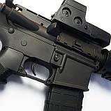 Игрушечная винтовка M4A1 на орбизах, колиматор, стреляет очередью, на аккумуляторе, мягкие пули, автомат м16, фото 6