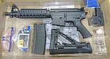 Игрушечная винтовка M4A1 на орбизах, колиматор, стреляет очередью, на аккумуляторе, мягкие пули, автомат м16, фото 8