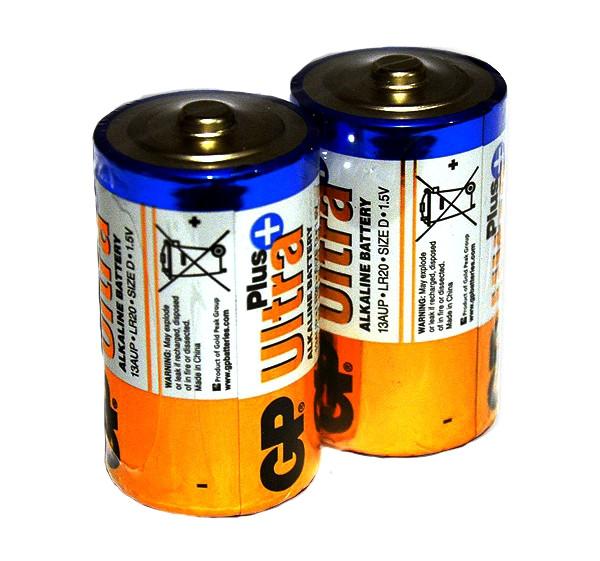 Батарейка GP ULTRA PLUS LR20 (1шт)