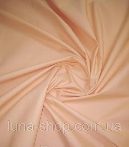 Простынь на резинке персиковая из бязи, любые размеры, с наволочками и без