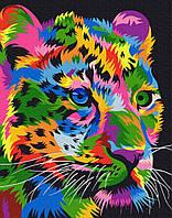 Картина малювання за номерами Brushme Плямистий леопард 40х50см малювання розпис по номерах, пензлі, фарби,