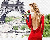 Картина малювання за номерами Brushme Аромат Парижа 40х50см малювання розпис по номерах, пензлі, фарби,