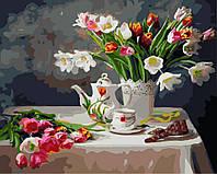Картина малювання за номерами Brushme Весняний натюрморт 40х50см малювання розпис по номерах, пензлі, фарби,